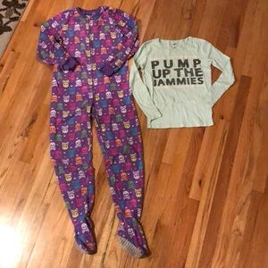 Other - 2 pieces of girls winter pajamas sz 10/12